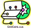 Vector Clip Art image  of a Colorful rolodex