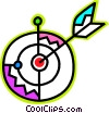 Vector Clipart illustration  of an Archery target and arrow