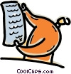 Vector Clipart picture  of a Person reading document