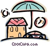 Vector Clip Art picture  of a Insurance concept with house