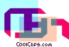 Vector Clipart image  of a Colorful thick line computer