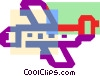 Vector Clip Art graphic  of a Colorful thick line commercial