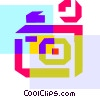 Colorful thick line camera Vector Clip Art picture