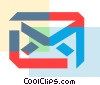 Vector Clip Art image  of a Colorful thick line envelope