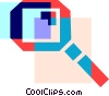 Colorful thick line magnifying glass Vector Clipart graphic