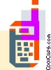Colorful thick line walkie talkie Vector Clipart picture
