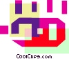Vector Clipart image  of a Colorful thick line circuit