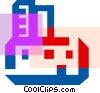 Colorful thick line computer printer Vector Clip Art picture