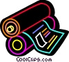 Newspaper printer Vector Clip Art picture