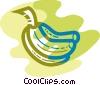 Vector Clip Art image  of a Bananas