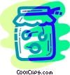 Vector Clip Art image  of a Home made jam