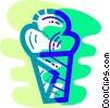 Vector Clip Art image  of a Ice cream cone
