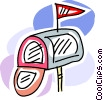 Vector Clipart picture  of a Mailboxes
