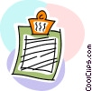 Clipboards Vector Clipart image