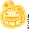 Vector Clip Art graphic  of a Jack-o-lantern