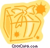 Vector Clipart graphic  of a Christmas gift