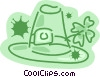 St Patrick's day hat with luck clover Vector Clipart image
