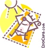 Vector Clip Art image  of a Man sun bathing