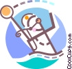 Man playing water polo Vector Clip Art picture