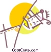 Man pole vaulting Vector Clip Art graphic