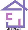 Vector Clipart picture  of a House symbol