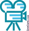 Vector Clip Art image  of a Movie camera