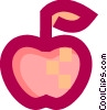 Vector Clipart graphic  of a Fresh apple