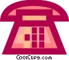 Vector Clip Art picture  of a Telephone