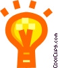 Idea light bulb Vector Clipart graphic