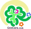 Vector Clipart picture  of a Shamrocks