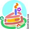 Vector Clipart image  of a Birthday Cakes