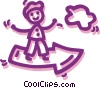 Vector Clip Art graphic  of a Man charting success