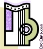 Vector Clipart picture  of a Colorful harp