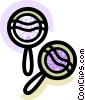 Vector Clipart graphic  of a Colorful maracas