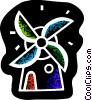 Vector Clip Art picture  of a Dutch windmill