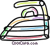 Electric iron Vector Clip Art graphic