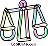 Colorful scales Vector Clip Art image