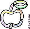 Vector Clip Art image  of a Fresh apple