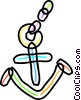 Colorful anchor Vector Clip Art image