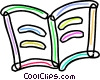 Vector Clip Art graphic  of a Colorful book