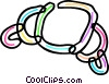 Colorful croissant Vector Clip Art picture