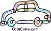 Vector Clipart illustration  of a Family car