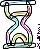 Colorful Hourglass Vector Clipart illustration