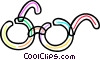 Vector Clip Art graphic  of a Colorful eyeglasses