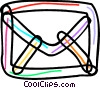 Colorful envelope Vector Clipart illustration
