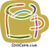 Vector Clipart illustration  of a Colorful coffee cup