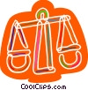 Vector Clip Art picture  of a Colorful scales