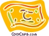 Colorful dollar bill Vector Clip Art image