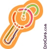 Vector Clip Art image  of a Colorful house key