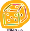 Vector Clipart image  of a Colorful dice